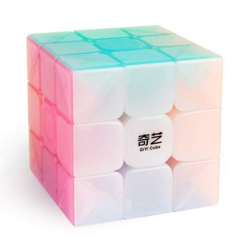 Qiyi Warrior W Jelly 3x3x3 Magic Cubes Stickerless Speed Cube Puzzle Twist #147