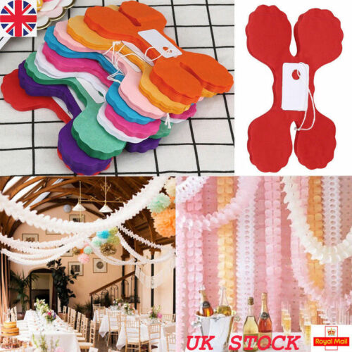 Tissue Paper Garland Buntings Wedding Banner Hanging Birthday Party Wall Decor