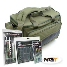 NGT pesca carpa BORSA CARRYALL-PVA sessione Pack, Morsetto Set & Free Needle Set