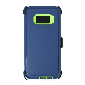 For Samsung Galaxy S8 Plus Defender Case Cover[Clip Fits Otterbox] Navy Green