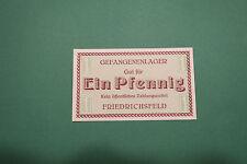 Notgeld, Friedrichsfeld, Voerde,  Gefangenenlager,  1 Pfennig