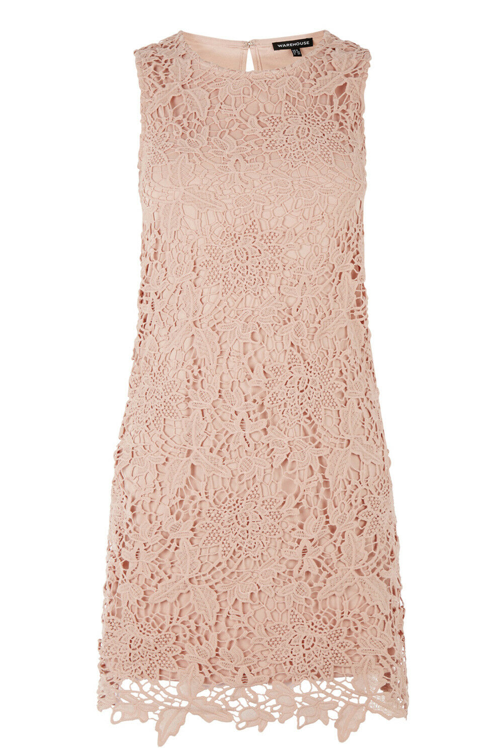 BNWT WAREHOUSE PINK LEAF LACE DRESS SIZE 10 RRP