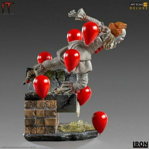 Iron Studios WBHOR31220-10 1/10 Pennywise Clown Collectible Display Statue Toy on eBay thumbnail