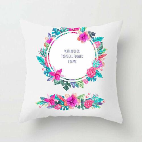 Plantes tropicales Taille Throw Polyester Pillow Case Sofa Cushion Cover Home Decor