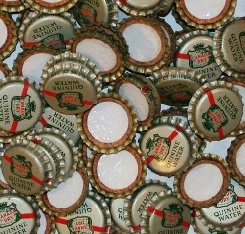 Soda pop bottle caps Lot of 12 CANADA DRY QUININE cork unused new old stock