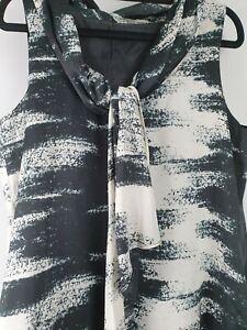 Emerge-Tunic-Black-White-Pattern-Dress-Sz-10