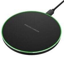 For Apple iPhone XS Max XR X 8 + Qi Wireless Fast Charger Charging Pad Mat Metal