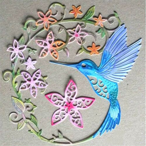 2 Pièce Colibri fleurs cadre Die Métal Découpe Cutter UK rapide POST