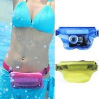 Drift Waterproof PVC Waist Pouch Bag Swimming Diving Transparent Color Phone