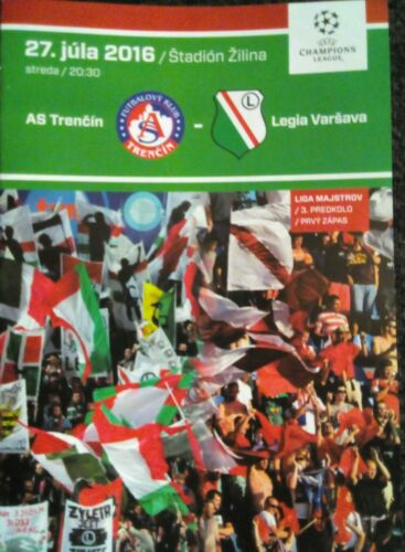 Programm UEFA CL 2016//17 AS Trencin Legia Warschau