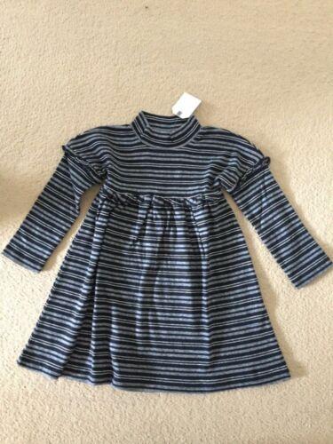 NEXT Baby Girls Navy Striped Dress Age 9-12 Months BNWT