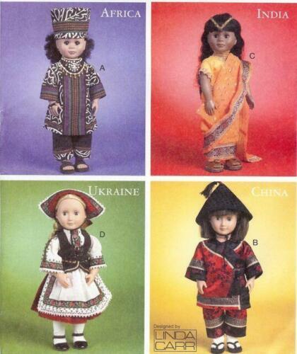 "McCalls Sewing Patterns 6855 18/"" Doll International Clothes China India"