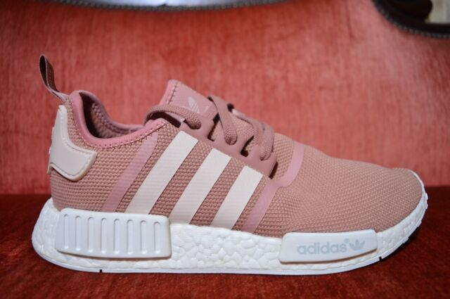 WORN 2X Adidas NMD R1 Salmon Raw Pink S76006 Womens 11 Men 9.5 Atheltic  Running ba0ab6f35