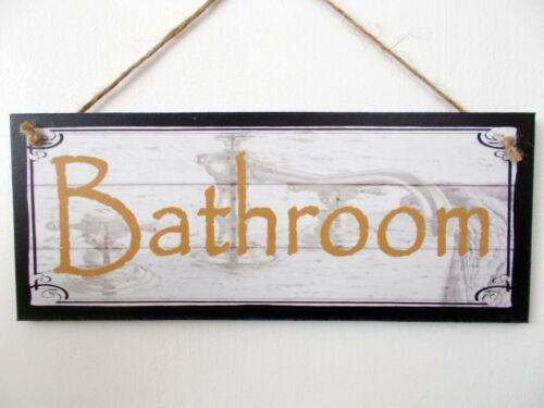 "Decorative Sign /""Bathroom/"" Great Gift Idea! Wooden Plaque"