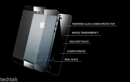 Tempered Glass Film Screen Protector Both Sides Front and back For IPhone 5S&5