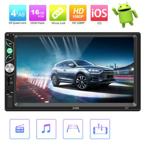 Bluetooth-7-034-HD-Autoradio-Audio-Radio-MP5-Lecteur-MP3-DIN-2-USB-FM-G