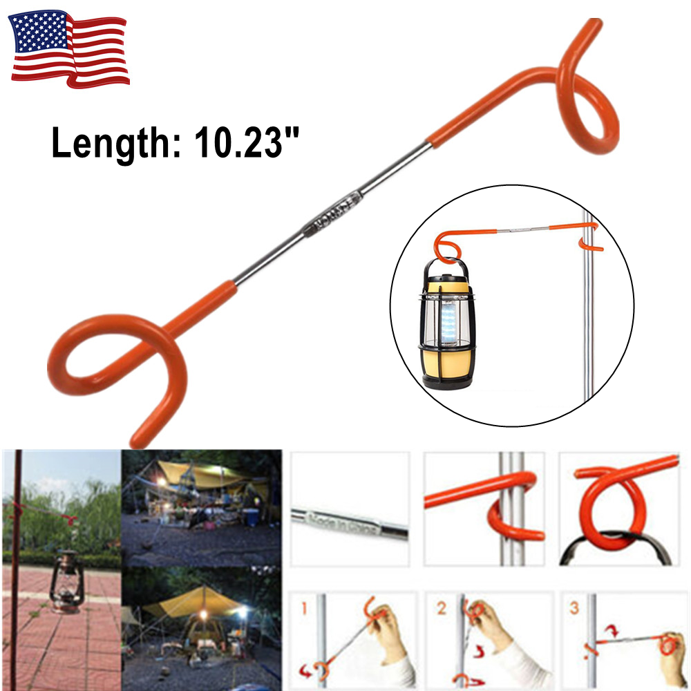 Lantern Light Lamp Hanger Tent Pole Post Hook Outdoor Camping G