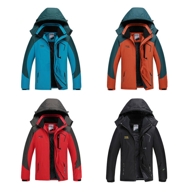 1b5fda1a0 Men's Mountain Waterproof Ski Jacket Windproof Warm Winter Coat Detachable  Hood