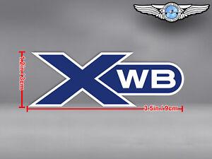 SMALL AIRBUS XWB EXTRA WIDE BODY CUT TO SHAPE LOGO DECAL / STICKER