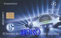 Knappenkarte Schalke 04 Champions League 2012/2013 -2- + Mit 5.-euro Guthaben
