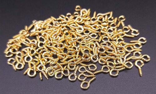 300Pcs Small Tiny Screw Eye Pin Peg Tail 8//10MM Jewelry Making Finding DIY Craft