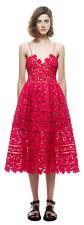 AUTHENTIC Self Portrait AZAELEA Rose RED Cutout LACE Dress US2 NEW +TAG