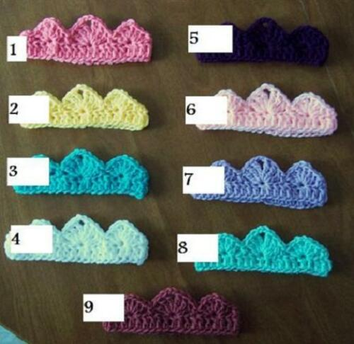 U CHOOSE Crochet BABY TIARA CROWN Headband girl MADE IN USA Pink PHOTO PROP