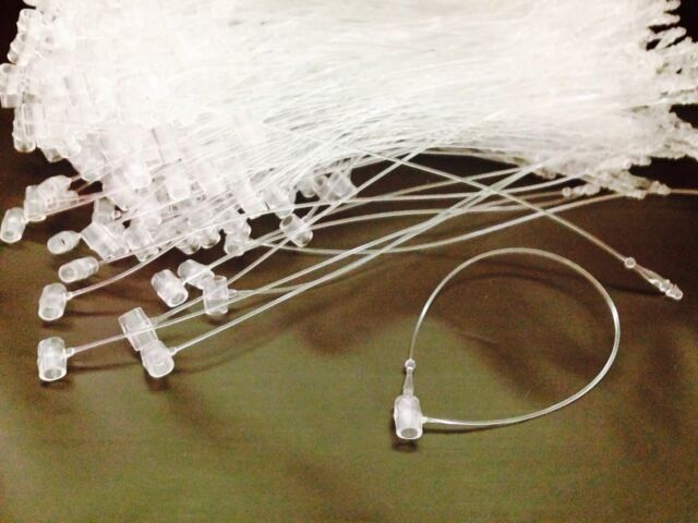 "5000 5/"" SNAP LOCK Pin SECURITY LOOP CLEAR PLASTIC Tag Fastener Tagging Fasteners"