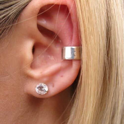 Silver Earcuff Cartilage Earrings