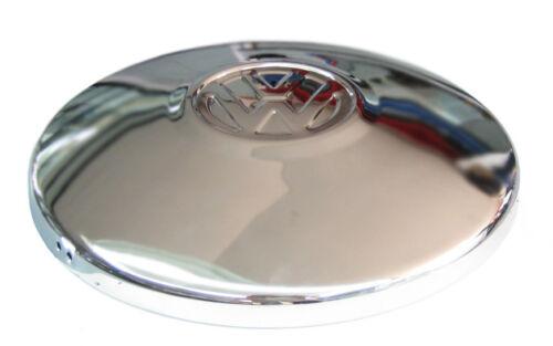 QTY 4 HUB CAP CHROME W// VW LOGO SET BUG BUS GHIA T-3 68-79 251601151A