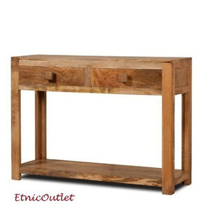 Consolle etnica legno massello naturale mobili ingresso vintage etnici coloniali ebay - Mobili ingresso legno ...