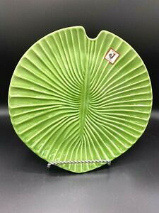 Set of 2 Olfaire Footed Leaf Serving Dishes