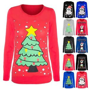 Kids Girls Novelty Christmas Penguin Printed Jersey T Shirt Top Age 7-13 Years