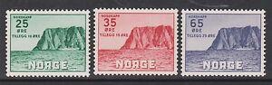 1957 NORWAY North Cape, Nordkapp V NK 445-47 MNH