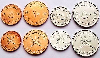 5-100 baisa 1984-2013 UNC Oman set of 5 coins