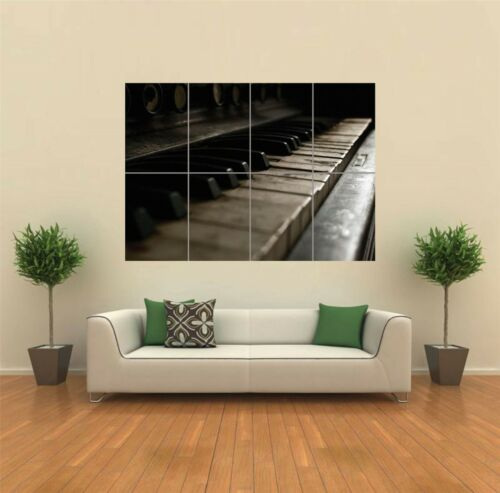 PIANO KEYS OLD CLASSIC PIANO NEW GIANT POSTER WALL ART PRINT PICTURE G885