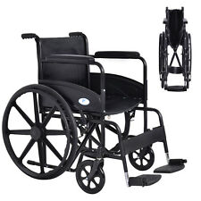 Goplus 24'' Lightweight Foldable Medical Wheelchair w/ Footrest FDA Approved New