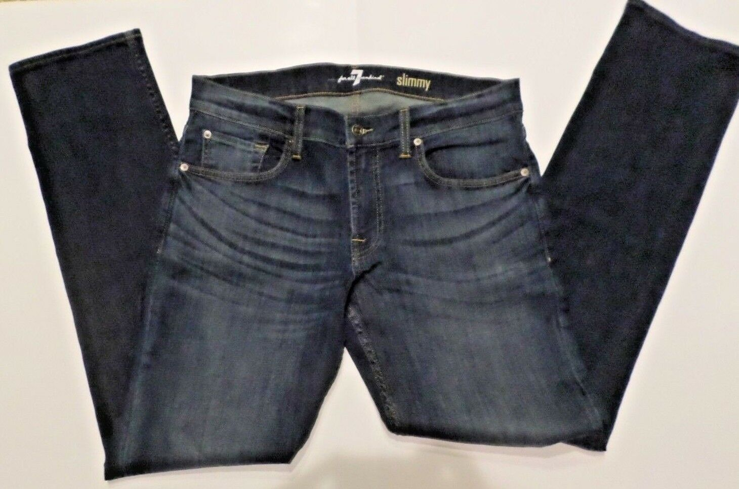 7 For All Mankind Slimmy Men's Jeans 34 bluee