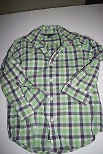 Gap Kids  Button Front Checkered Oxford Shirt   size S  (6-7)