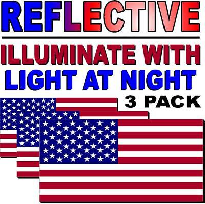 Decal Sticker 3M Military-Marines-Army w U//V LAM. American Flag USA PACK OF 3