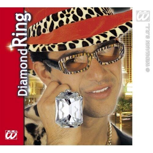 Silver Pimp Gangster Ali G Bling Necklace 60cm Fancy Dress Costume Jewellery