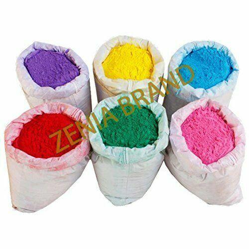 Holi Farben 5.4kg 6 Farben Pulver Gulal Rot Grün Gelb Pink B 0.9kg EA Farbe