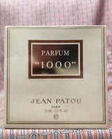 Vintage 1980s Jean Patou 1000 Pure Parfum 1/2 Oz 15 Ml Baccarat Crystal Bottle
