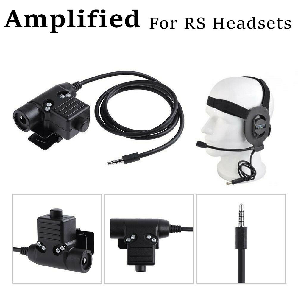 New Replacement U94 PTT AMPLIFIED version Audio Part for REAL STEAL RS headset