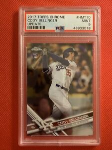 2017-Topps-Chrome-Update-CODY-BELLINGER-Rookie-RC-PSA-9-Los-Angeles-Dodgers