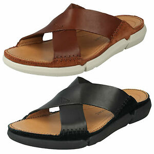 b16e469d6708f MENS CLARKS LEATHER OPEN TOE SLIP ON SUMMER SANDALS BEACH SHOES ...