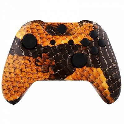 Gold Dragon Scales Xbox One Replacement Controller Shell Mod Kit + Buttons Kit