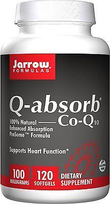 Jarrow Formulas Q-Absorb Co-Q10 100mg 120 Softgels