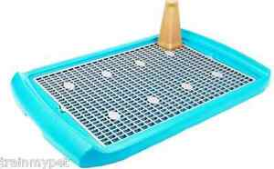 BLUE-Indoor-Plastic-Dog-Potty-Litter-Tray-Pet-Training-Toilet-Tool-29-034-x19-034-NEW