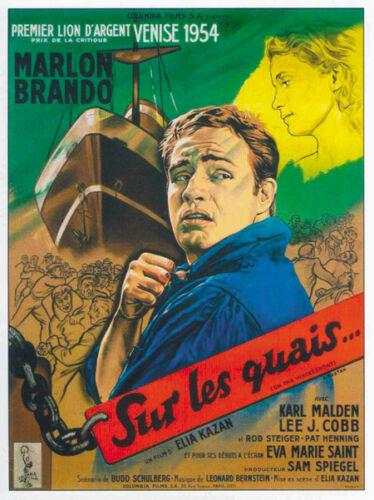 On the Waterfront Marlon Brando vintage movie poster #6